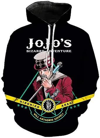 Jaqueta com capuz JoJo's Bizarre Adventure com estampa 3D