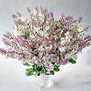 MENILITHS 10 Pcs Artificial Flowers Lavender Silk Flower for Bouquets Wedding Home Party Decor (White) 103