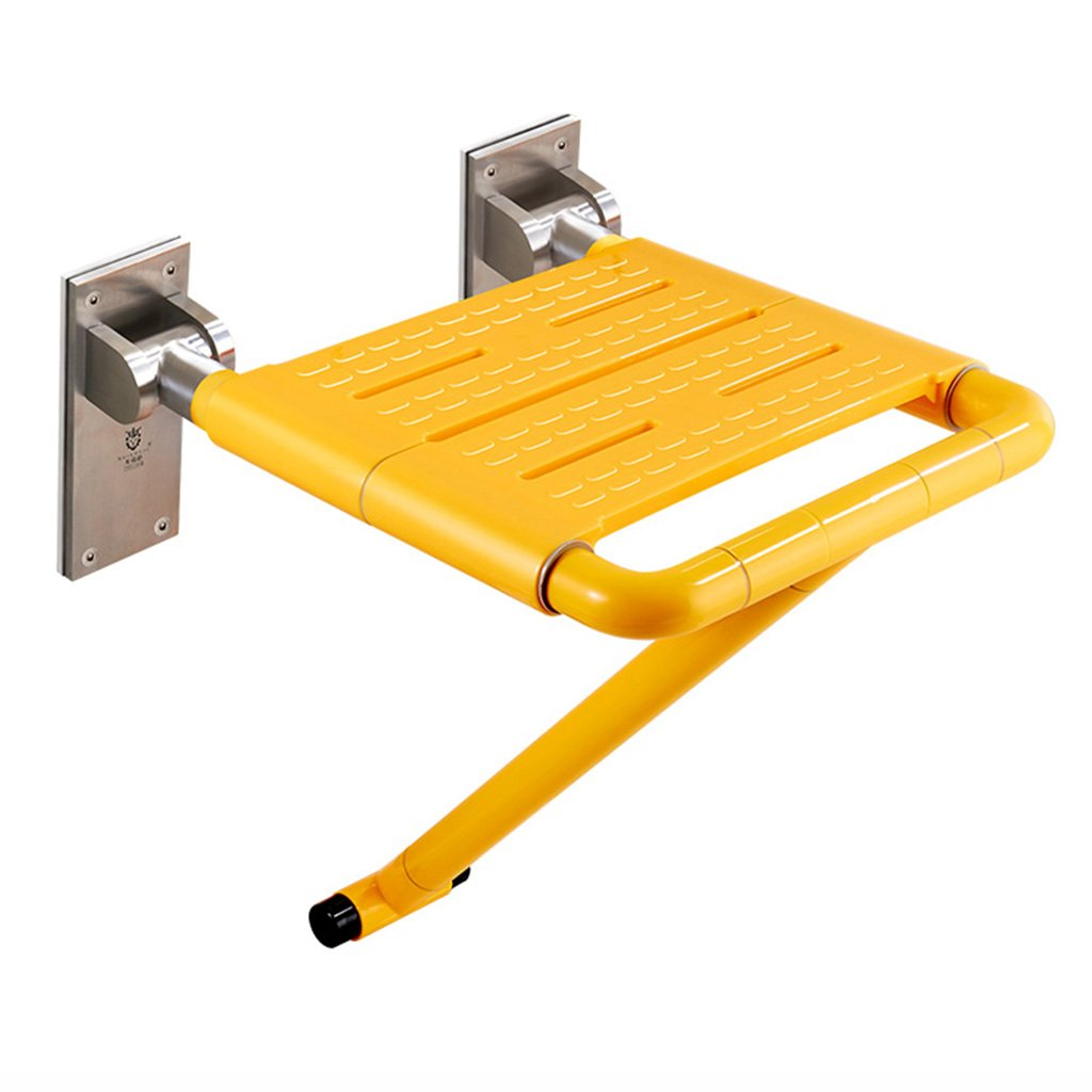 WSSF- シャワーチェア バスルームの折りたたみ式の椅子の壁のシャワールームのスツールポータブルノンスリップの高齢者のバリアフリーのバスチェアの色オプション、40.5 * 45.5 * 51.5cm (色 : イエロー いえろ゜) B07B7KJ9Q6 イエロー いえろ゜ イエロー いえろ゜