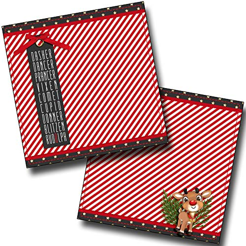 Rudolph NPM - Christmas - Premade Scrapbook Pages - EZ Layout 4433 (For Layouts Christmas Scrapbook)