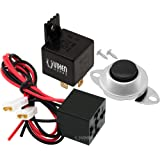 Vixen Horns 4-PIN Horn Relay 30A/12V with 4-PIN Pre-wired Quick Connect Relay Plug/Socket and Momentary Horn Button/Switch VXK7802