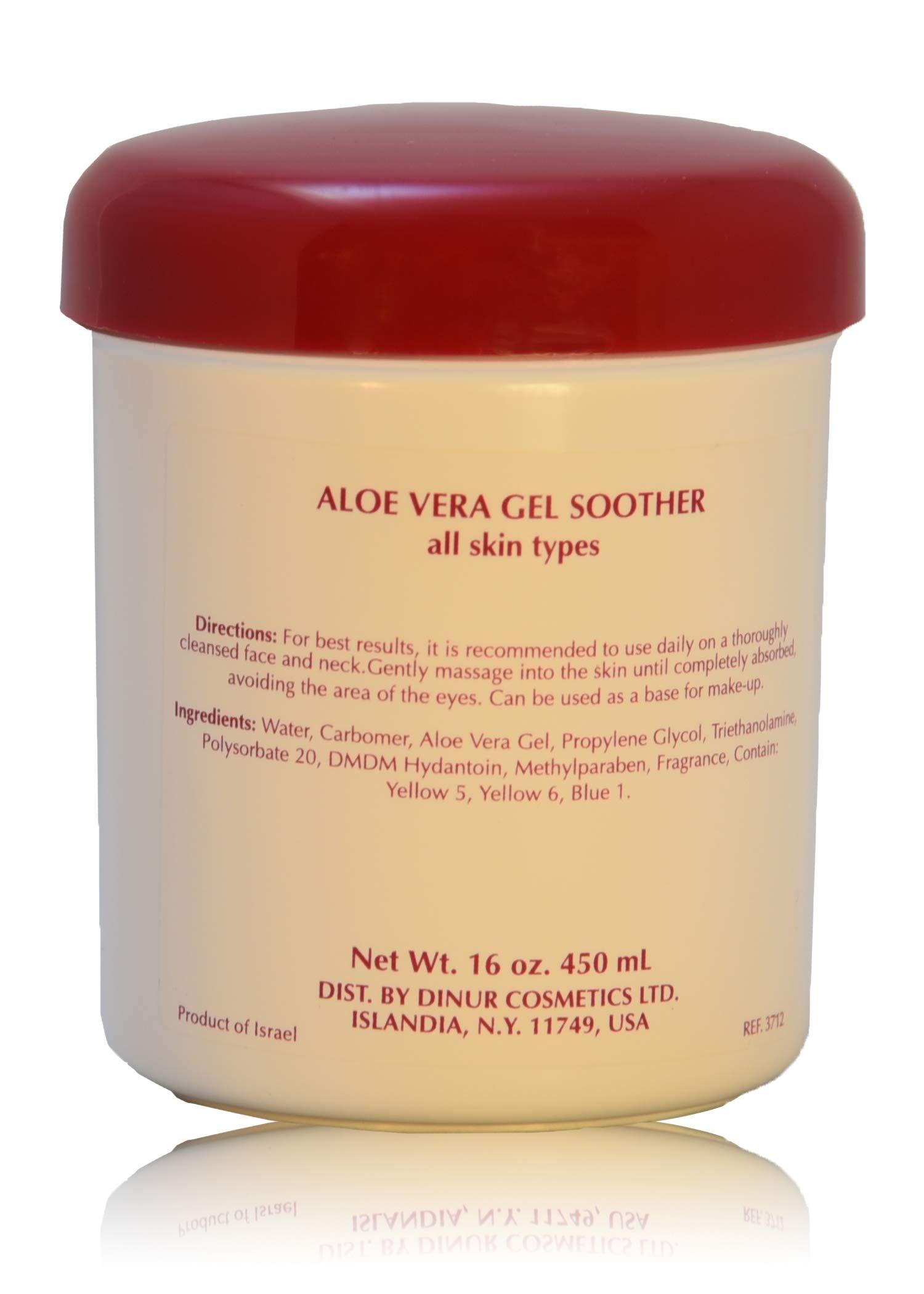 Dinur Cosmetics ALOE VERA GEL SOOTHER 16 oz. 450 ml.