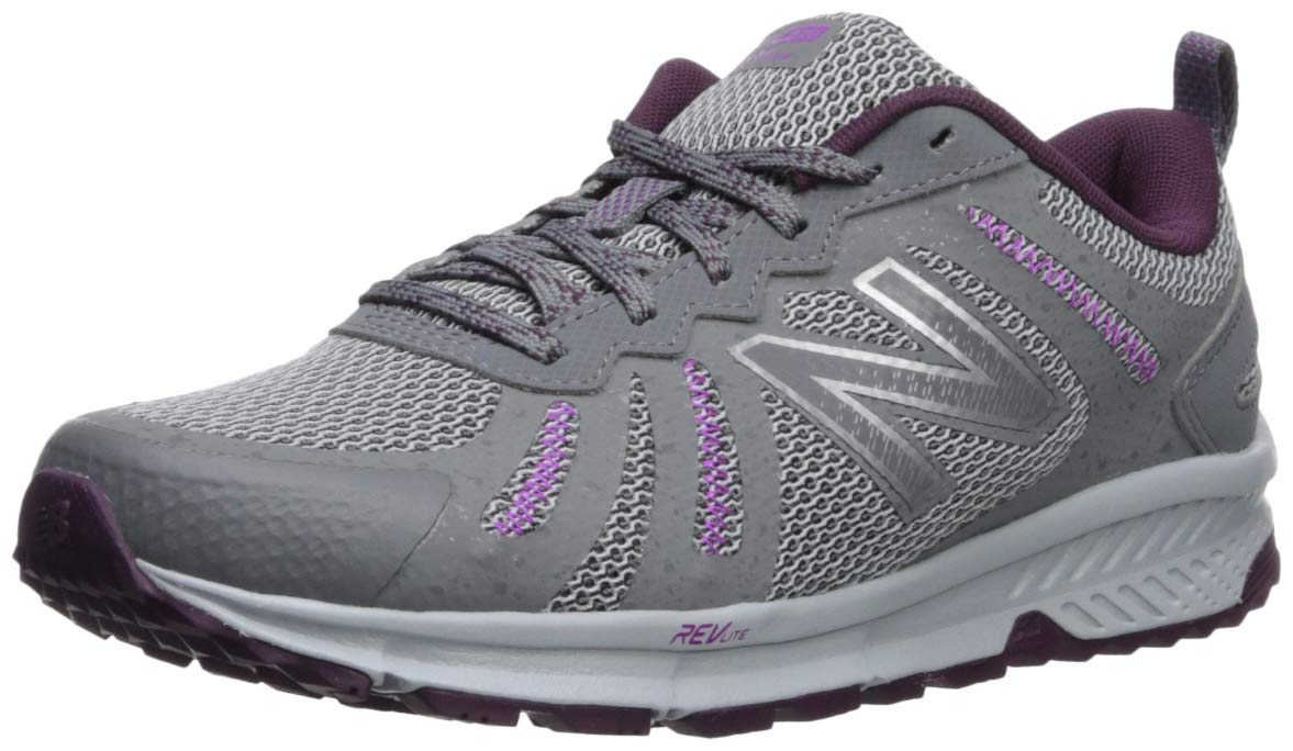 New Balance Women's 590v4 FuelCore Trail Running Shoe, Gunmetal/Dark Current/Voltage Violet, 5 B US by New Balance (Image #1)