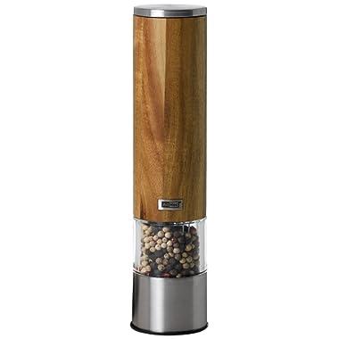 AdHoc Woodmatic Acacia Electric Pepper or Salt Mill