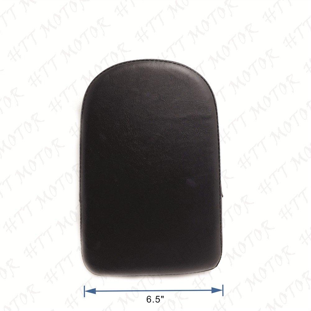 Black Rectangular Backrest Sissy Bar Cushion Pad For Kawasaki Honda Suzuki Harley