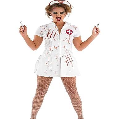 2REMISE Disfraz De Enfermera Bloody Mary De Halloween Disfraz De ...
