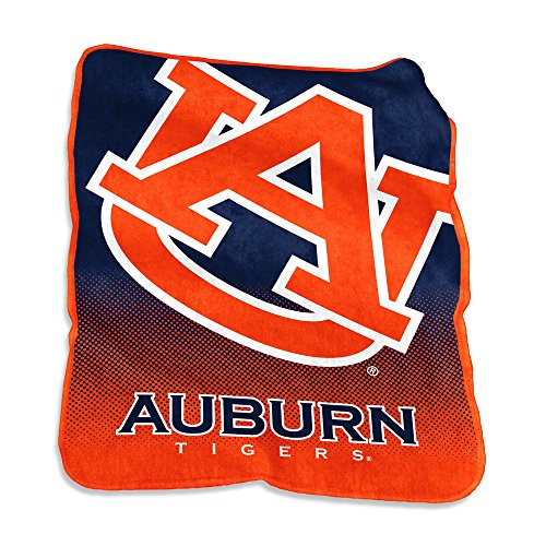 Auburn Throw Tigers Fleece (Logo Brands NCAA Auburn Tigers Raschel Throw, One Size, Navy)