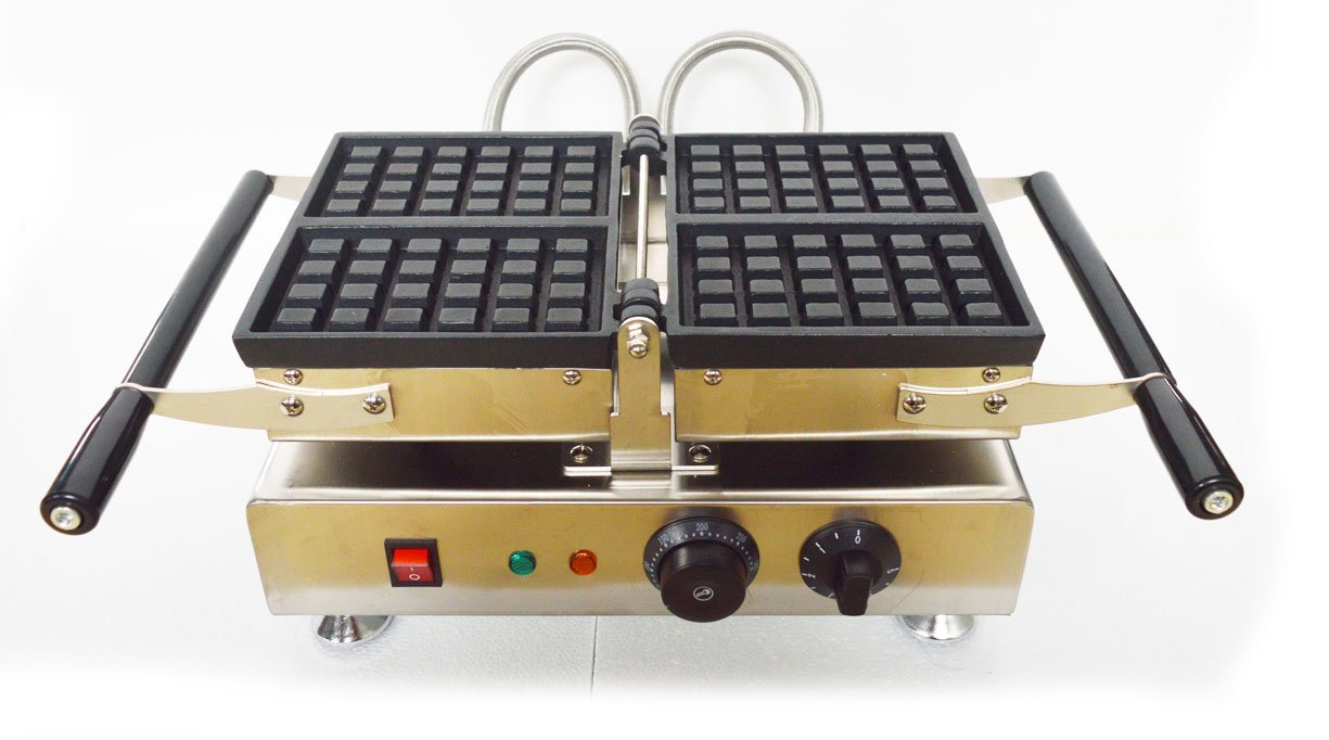 110V 4pcs Square Belgian Waffle Baker Maker Iron Machine