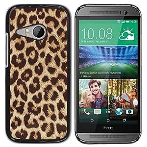 Design for Girls Plastic Cover Case FOR HTC ONE MINI 2 / M8 MINI Cheetah Golden Brown Animal Pattern OBBA