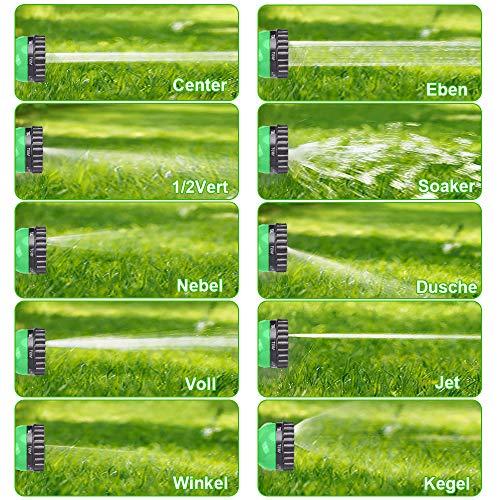 Tubo Estensibile da Giardino 100FT/30 M, Tubo Acqua con Doccetta a 10 Funzioni, Tubo Annaffiare Estensibile Senza Pieghe per Autolavaggio, Irrigazione da Giardino, Doccia per Animali Domestici