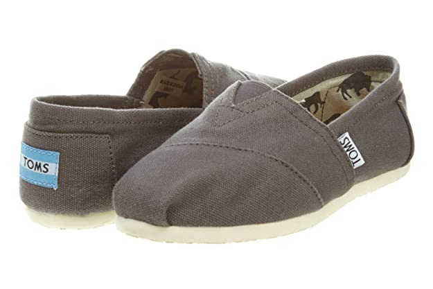 Amazon Toms Womens Classic Canvas Ash Slip On Shoe 75 Bm