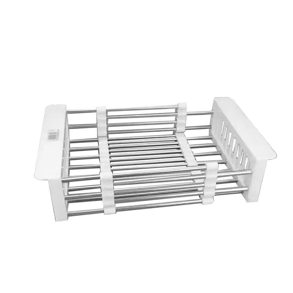 MagiDeal Retractable Vegetables Basket Sink Drain Storage Rack Kitchen Storage Rack