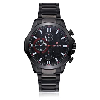 0a5e074a5d Rockyu ブランド 人気 腕時計 メンズ 男性 オシャレ 防水 サファイアガラス 海外ブランド ブラック メンズ時計