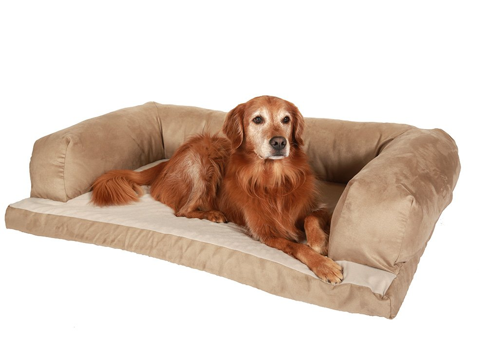 NEW! Beasley's Couch Dog Bed - Extra Large 34'' X 54'' - Tan