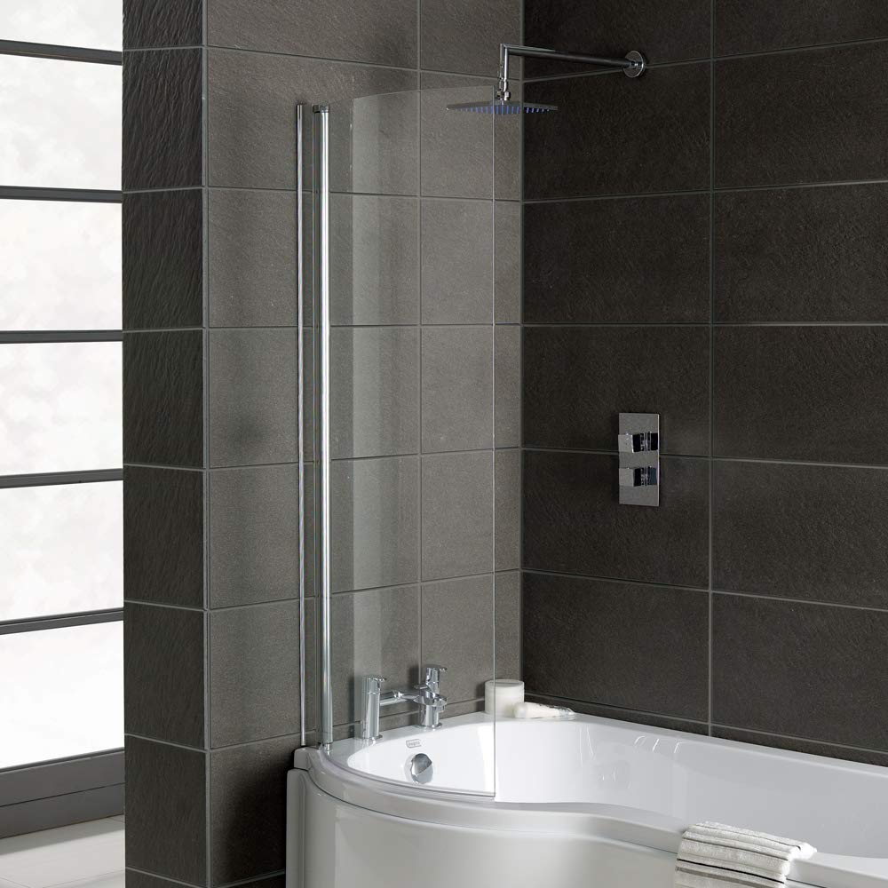 Bath Screens Curved Home Standard® Bath Screens, Bath Seals & Accessories (Bath Screens, Square + Rail)