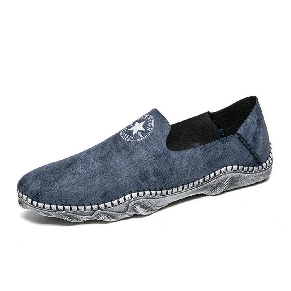 Y-H Herren Schuhe, Frühlingskomfort, Fahrschuhe, Wanderschuhe, Fahrradschuhe, Trekkingschuhe, Blau, 40