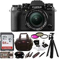Fujifilm X-T2 Mirrorless Digital Camera w/ 18-55mm Lens +Focus 64gb Gadget Bag