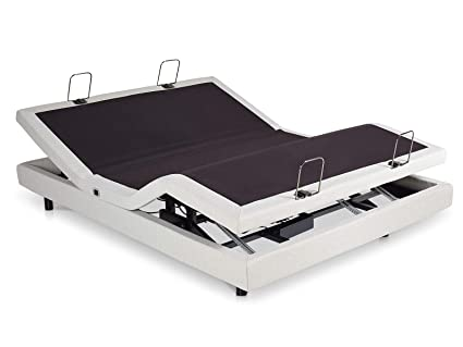 Split Queen Adjustable Bed >> Amazon Com Rize E1310001 Adjustable Bed Split Queen White