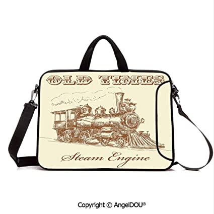 d6399abb0d7f Amazon.com: AngelDOU Neoprene Printed Fashion Laptop Bag Old Times ...