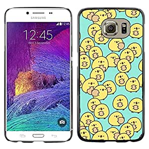 Be Good Phone Accessory // Dura Cáscara cubierta Protectora Caso Carcasa Funda de Protección para Samsung Galaxy S6 SM-G920 // duck yellow baby blue kids children's