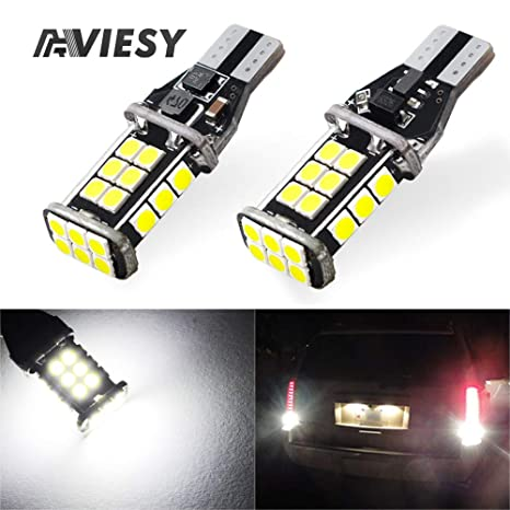 Led Backup Lights >> Viesyled Upgraded T15 921 Led Backup Lights Error Free 3030 Smd 1800lm Ultra Bright 6000k High Power 12 24v Non Polarity 921 912 T15 Bulb Replacement