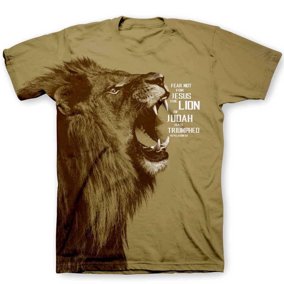 Kerusso Men's Lion – All Over T-Shirt – Brown –