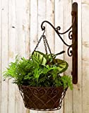 Open Scroll Iron Hanging Basket Bracket Set | Wall Planter Outdoor Review
