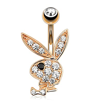 Elwin gold plated belly button playboy bunny pendant amazon elwin gold plated belly button playboy bunny pendant aloadofball Image collections