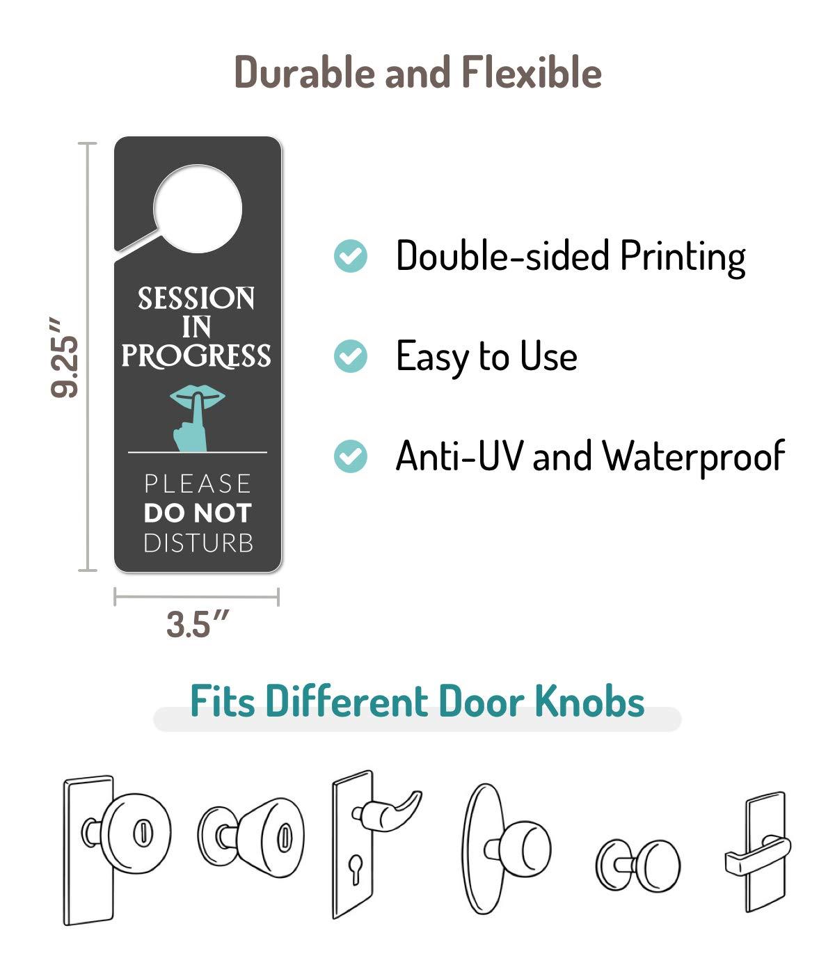 Please Do Not Disturb Sign 2 Pack Do Not Disturb Door Hanger Sign Recording in Progress