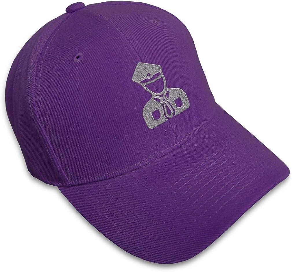 Custom Baseball Cap Silver Security Man B Embroidery Dad Hats for Men /& Women