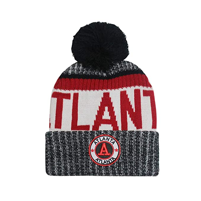 reputable site 01840 52de1 Football City Initial Letter Cotton Cap Pom Beanie Premium Embroidered  Patch Winter Soft Thick Beanie Skully