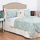 C&F Home Ocean Blue King 3 Piece Quilt Set King 3 Piece Set Blue