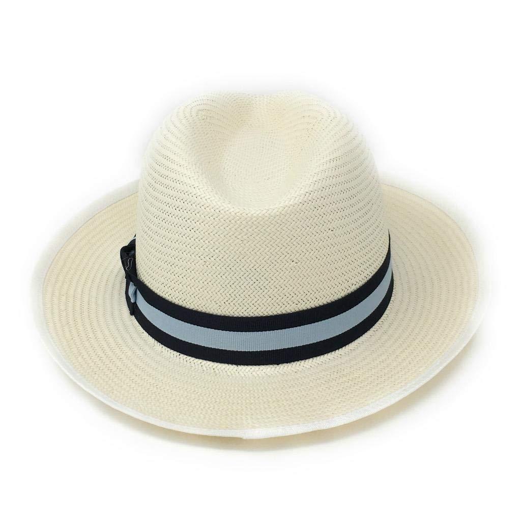 1c7a60b165d Cotswold Country Hats Panama Style Fedora Hat Navy Blue Band  Amazon.co.uk   Clothing