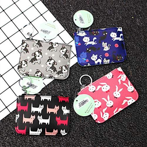 Bag Wallets Bags Coin Cute Changes Purse Card Bags Keychain Cartoon Gray Mini 7Xn8xvR7