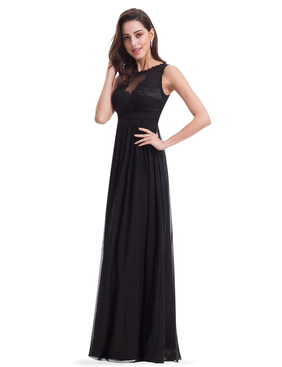10ecf5a190 Ever-Pretty Women s Elegant Round Neck Long Evening Dress 08715 at Amazon  Women s Clothing store
