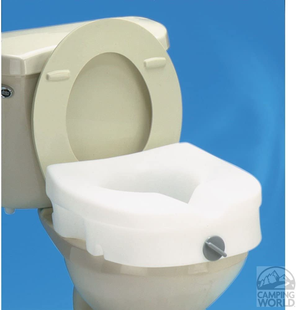 Carex Health Brands B30500 EZ Lock Raised T Seat with No Handles