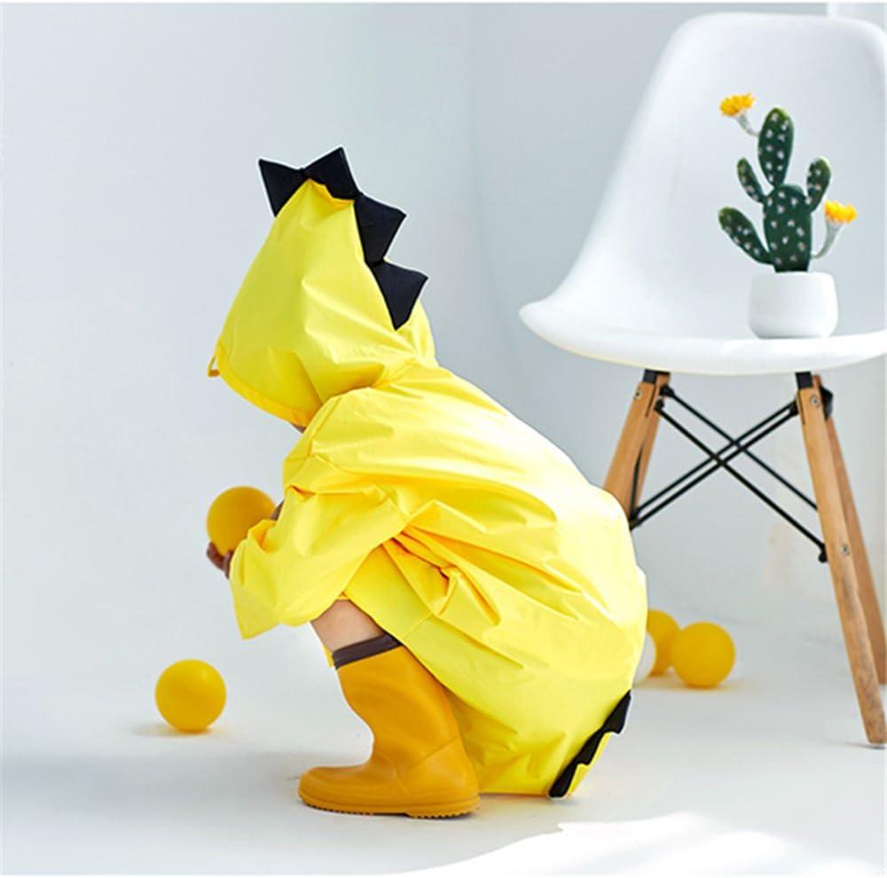 ligero impermeable lindo dinosaurio para ni/ños o ni/ñas amarillo amarillo Talla:S Chubasquero infantil de dibujos animados
