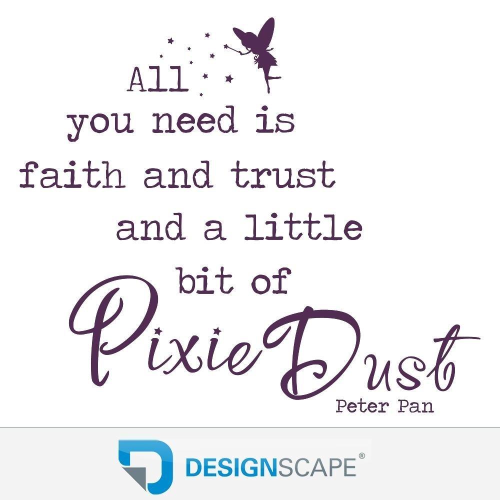 DESIGNSCAPE® Wandtattoo All you need is faith and trust an an an a little bit of Pixie Dust - Peter Pan Zitat 90 x 77 cm (Breite x Höhe) braun DW802125-M-F9 B01FSB8KFW Wandtattoos & Wandbilder 5d1b28