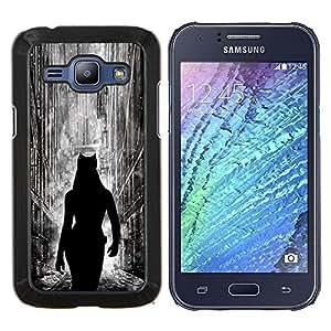 Jordan Colourful Shop - Cat Woman City For Samsung Galaxy J1 J100 J100H Personalizado negro cubierta de la caja de pl????stico
