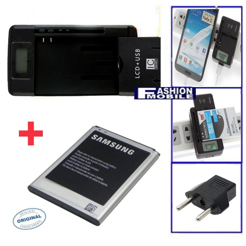Cargador 3-1 bateria + bateria Original Samsung Galaxy Note 3 II SM-N9000, SM-N9002 USB Red