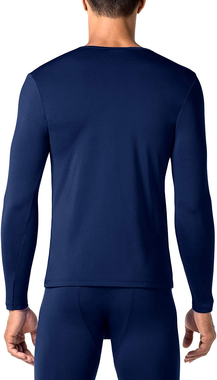 Ti Tiene al Caldo Senza Stress Maglia Invernale a Maniche Lunghe Midweight M55 LAPASA Uomo 2 Pack T-Shirt Termica a Medio Spessore
