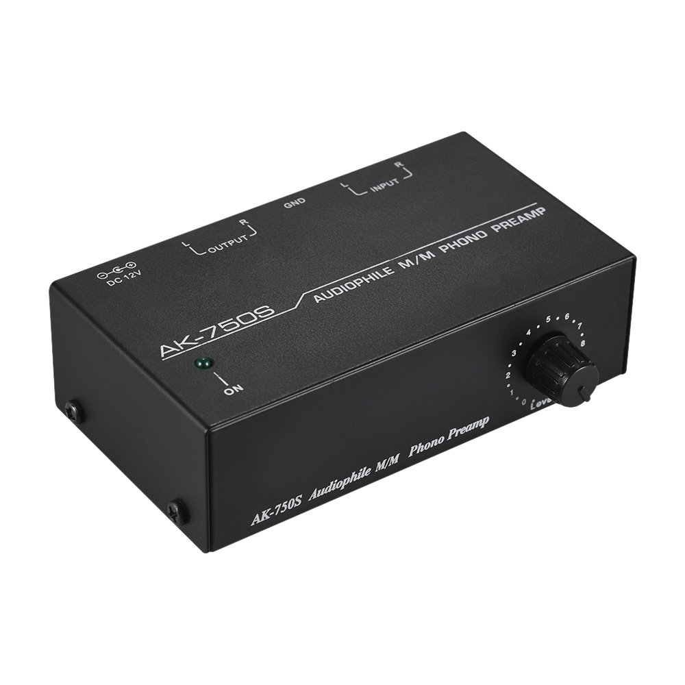 Microphone Preamp Muslady Audiophile M/M Phono Preamp Preamplifier with Level Controls RCA Input & Output Interfaces