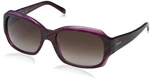 DKNY 0Dy4048, Gafas de Sol para Mujer, Striped Brown/Violet, 55