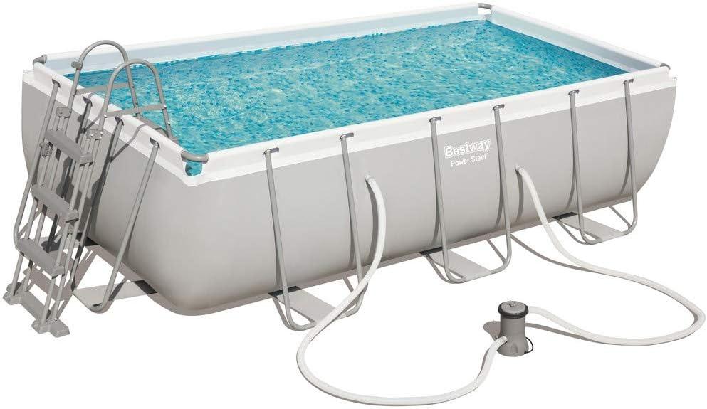 1 piscina con marco + bomba 404 x 201 x 100 H 56251: Amazon.es ...