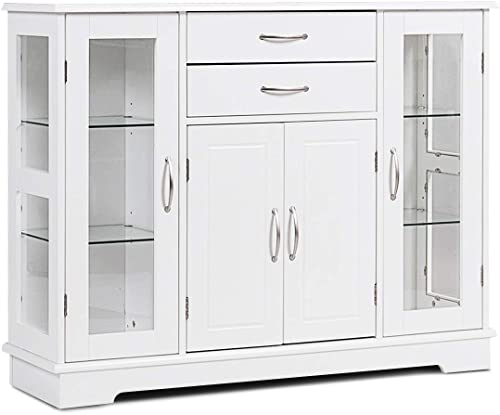 Karlory Sideboard Buffet Server Storage Cabinet Console Table Kitchen Dining Room Furniture Entryway Cupboard