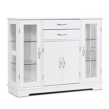Super Karlory Sideboard Buffet Server Storage Cabinet Console Table Kitchen Dining Room Furniture Entryway Cupboard With 2 Drawers And 3 Cabinets With Glass Ocoug Best Dining Table And Chair Ideas Images Ocougorg