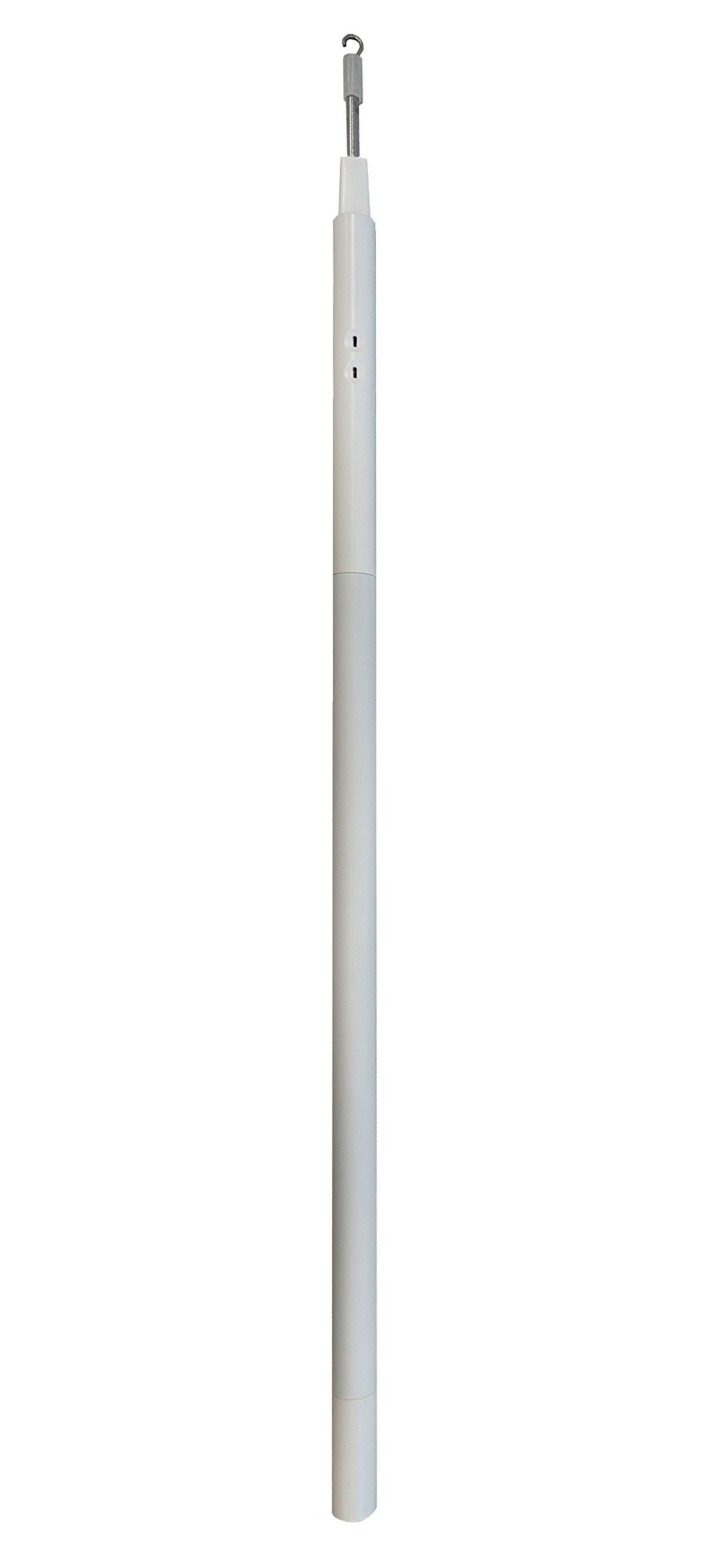 Single White E-Wand for Slatted Blind Motorization (E Wand) - Motorize and Automate Existing Blinds- Retrofit Motorized Blinds