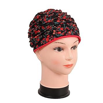 LIKEOUT® - Elegante gorra de natación para mujer para pelo largo y ...