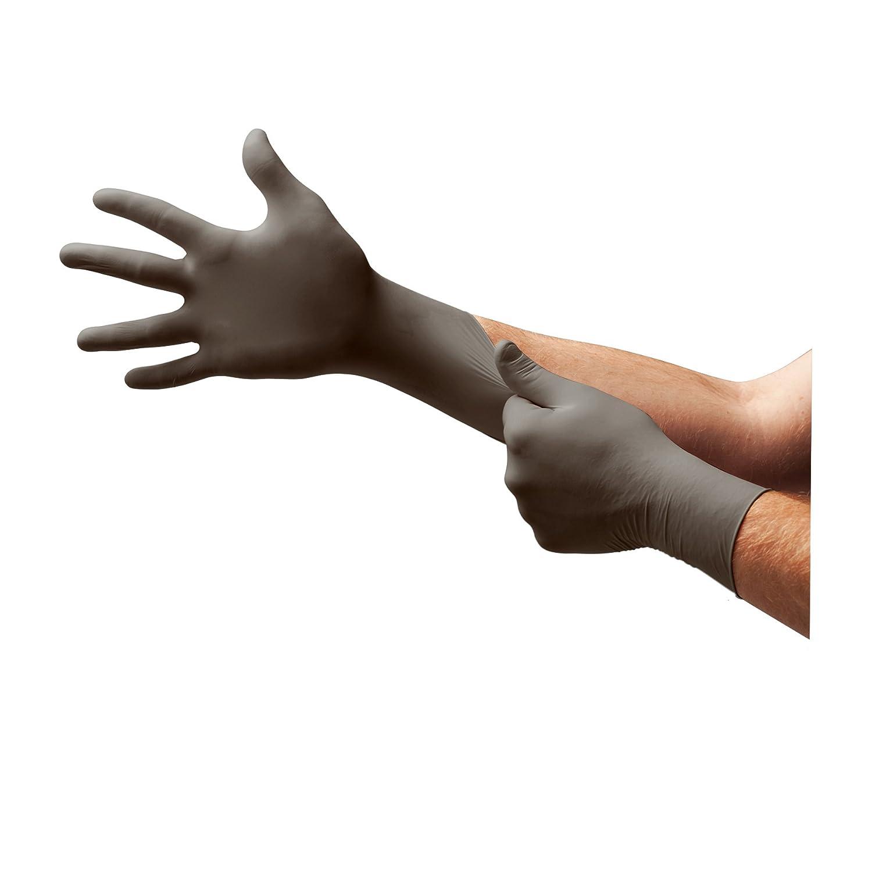 Ansell TouchNTuff 93-250 Gants en nitrile, protection contre les produits chimiques et les liquides, Anthracite, Taille 8.5-9 (Boî te de 100 gants) Taille 8.5-9 (Boîte de 100 gants) Ansell TouchNTuff 93-250 / 8.5-9