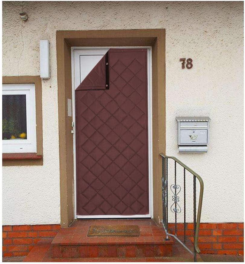 CAIJUN-Cortina de puerta Personalizable Invierno Plegable Multifuncional Esponja De Relleno Impermeable Mantener Caliente Casa, 2 Colores, 14 Tallas (Color : Brown, Tamaño : 120x200cm)
